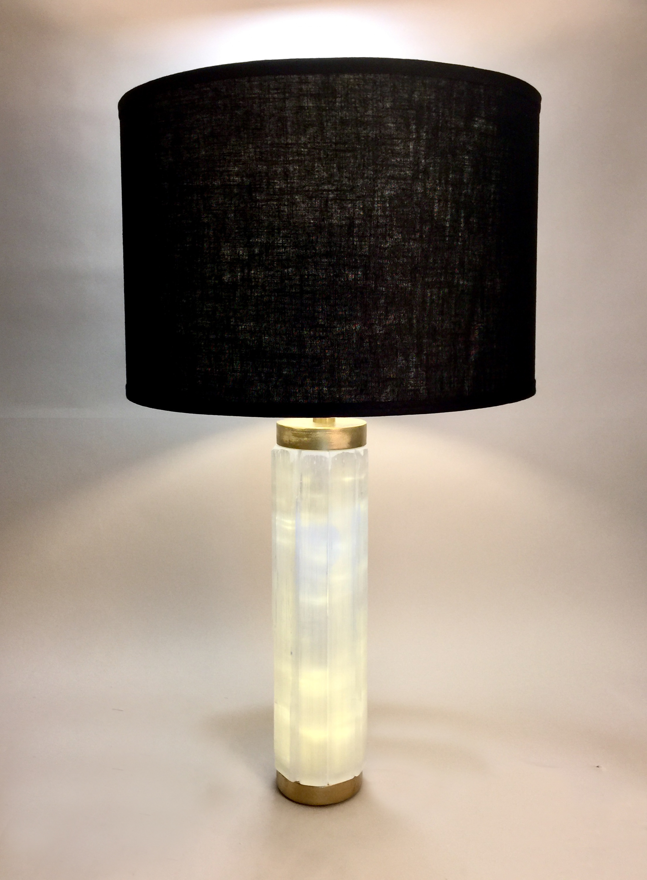 Selenite Column Lamp