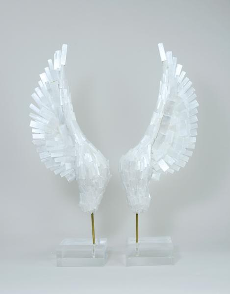 Selenite Wings Pedestal