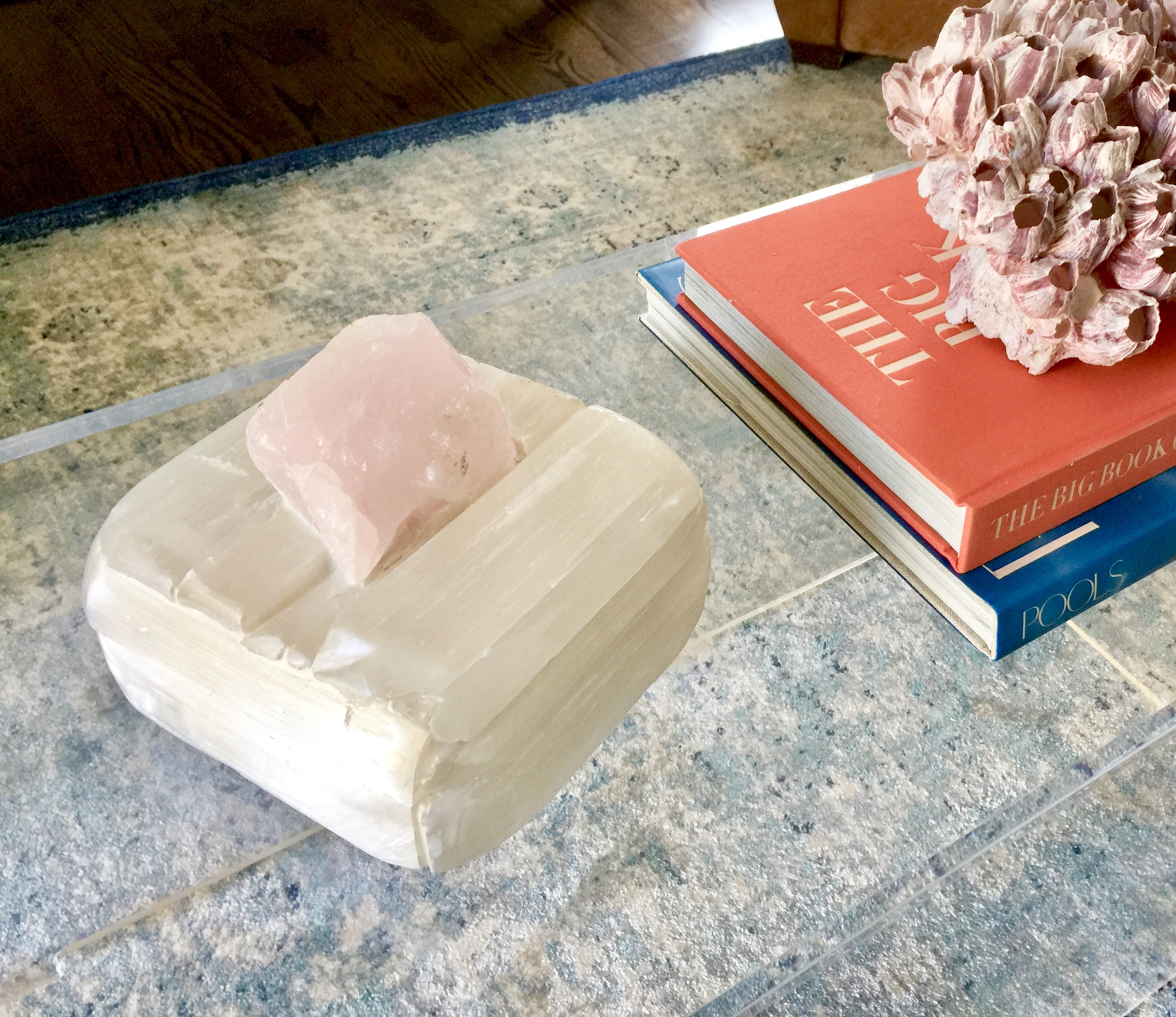 Selenite and Rose Quartz Treasure Box